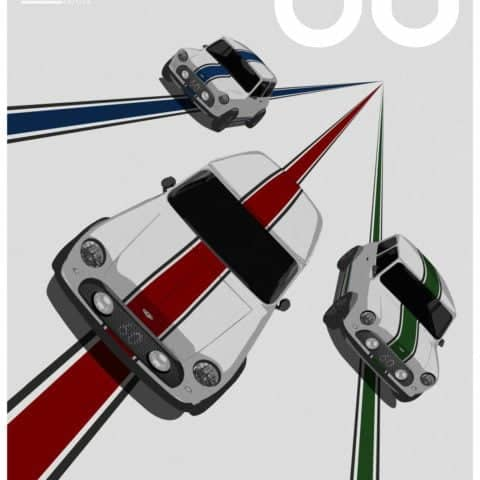 MINI REMASTERED, OSELLI EDITION ITALIAN JOB VINTAGE POSTER