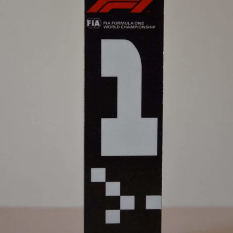 F1 FIA Race Position Board #1 2019 Display Piece - Scuderia GP