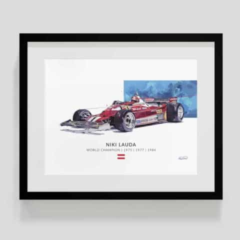 Niki Lauda World Champ Ferrari Print (50 LE prints)
