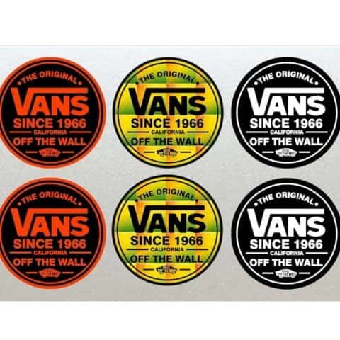 6 x VANS Stickers Set Unique, perfect for Helmets, Boards, Cars, Scooter etc (Laminated High Quality)