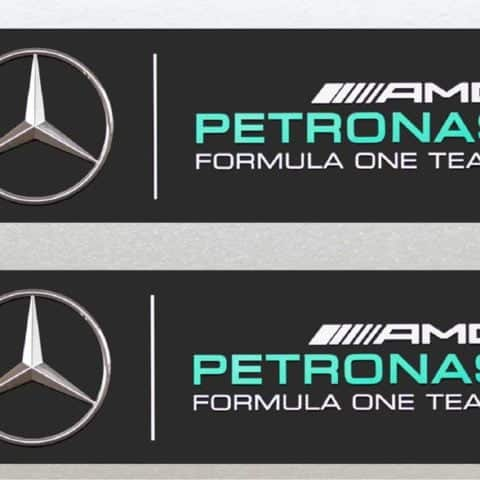 Mercedes Petronas Formula One (F1) Racing Stickers 2x Included (125mm) Stickers x 2 for Car, Van, Window Etc - High Quality Laminated Vinyl