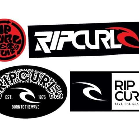 Rip Curl, Surf Board, Car, Bike, Boards, etc Mixed Stickers Set X4 (Laminated High Quality)