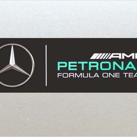 Xtra Large - Mercedes Petronas Formula One (F1) Racing AMG, Car, Van, RC, Etc Sticker (210mm Length), high quality Laminated Vinyl