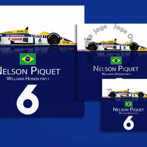 Nelson Piquet Williams FW11 1986 F1 Sticker - Scuderia GP