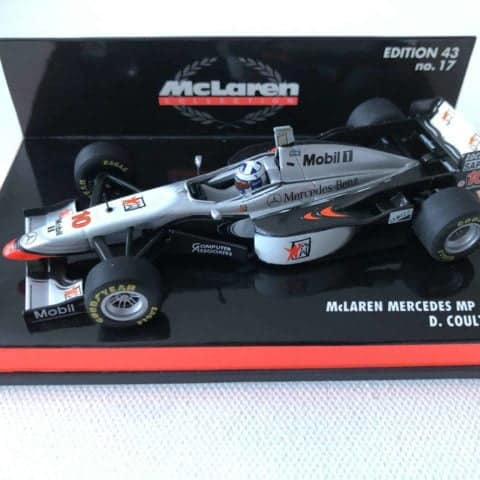 1997 David Coulthard McLaren Mercedes MP4/12 Minichamps 1:43 Scale