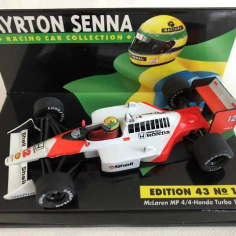1988 Ayrton Senna | Mclaren Honda MP4/4 Turbo | 1:43 LANG Diecast Model F1 Car