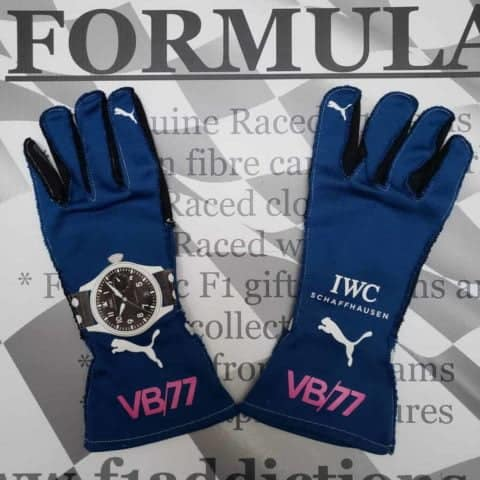 NOW SOLD-Valtteri Bottas used 2017 Mercedes drivers gloves