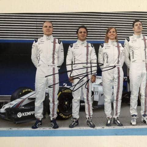 Felipe Massa Autographed Photo Formula One Williams Martini Racing 2015 30x20cm