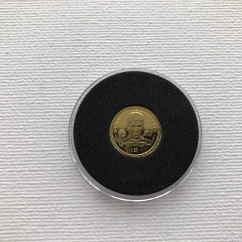 Rare Damon Hill 1994 Commemorative $20 Gold Liberia F1 Coin with COA 1.24 Grams