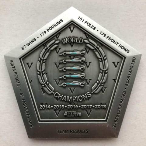 Genuine Mercedes Benz Commemorative Constructors F1 Medal from 2018 F1 Season (2245 of 2250)