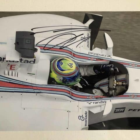 Felipe Massa Autographed Photo Formula One Williams Martini Racing 2015 30x20 cm
