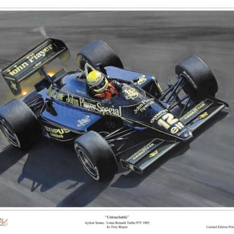 Ayrton Senna Lotus Renault Turbo 97T 1985 Limited Edition Fine Art Print