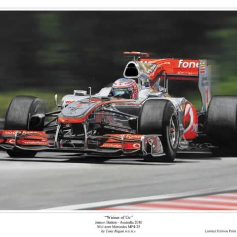 Jenson Button F1 McLaren 2010 Limited Edition Art Print