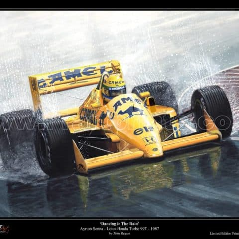 Ayrton Senna Lotus Honda Turbo 99T 1987 Limited Edition Fine Art Print