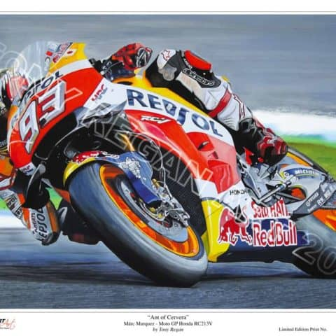 "Marc Marquez ""Ant of Cervera"" MotoGP Honda RC213V Limited Edition Art Print"
