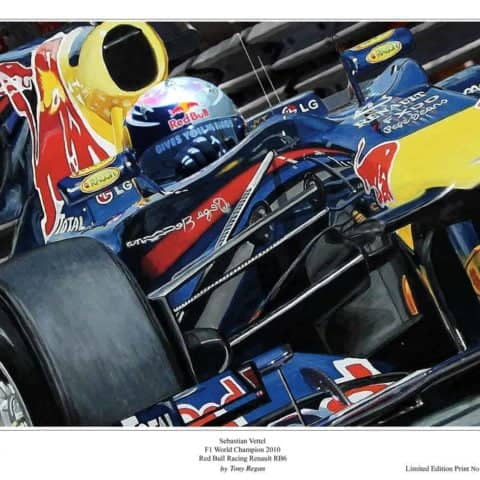 Sebastian Vettel Red Bull Limited Edition F1 Art Print