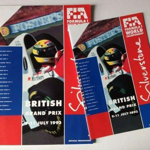 1993 British GP Race Programme Signed by Barrichello / Alesi / Boutsen / Berger