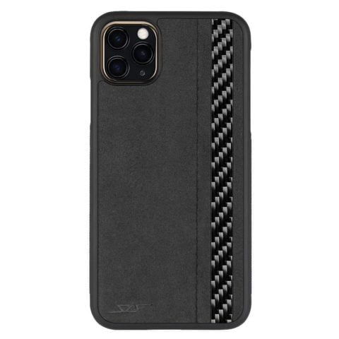 iPhone 11 Pro Alcantara & Real Carbon Case | CLASSIC