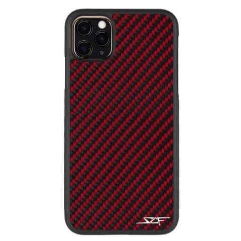 iPhone 11 Pro Max Red Carbon Fiber Case | CLASSIC