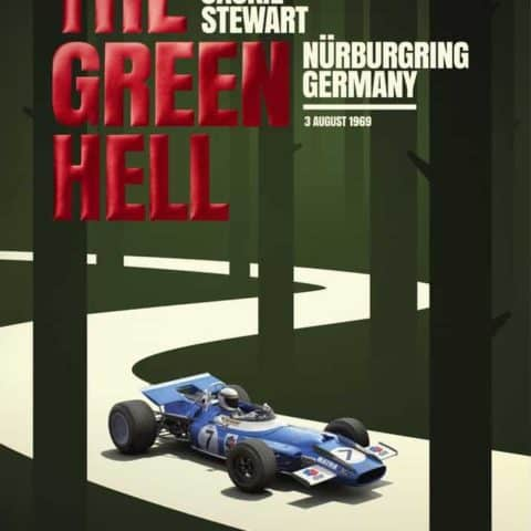Matra MS80 - Sir Jackie Stewart - The Green Hell - N?rburgring GP - 1969 | Collectors Edition Poster