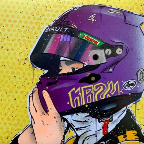 Daniel Ricciardo, Winter Test 2020 - Graffiti Painting