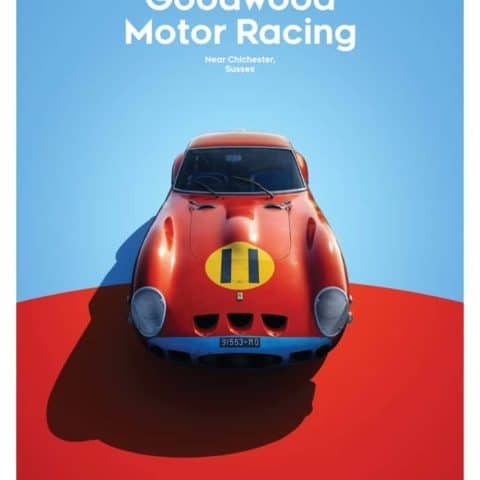Ferrari 250 GTO - Red - Goodwood TT - 1963 - Limited Poster