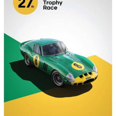 Ferrari 250 GTO - Green - Goodwood TT - 1962 - Limited Poster