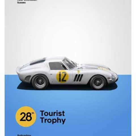 Ferrari 250 GTO - White - Goodwood TT - 1963 - Limited Poster