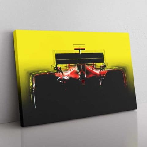 Ferrari F1 inspired silhouette wall canvas