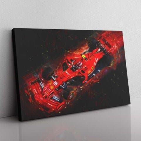 Lightening Leclerc wall canvas