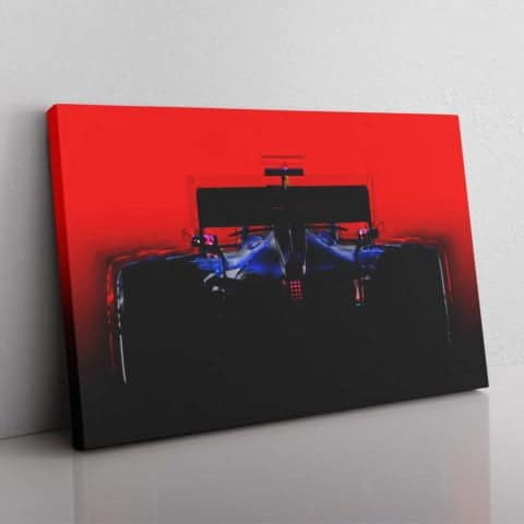 Redbull F1 inspired silhouette wall canvas