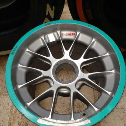 NOW SOLD-2011 Merchedes front wheel and tyre driven by Schumacher/Rosberg