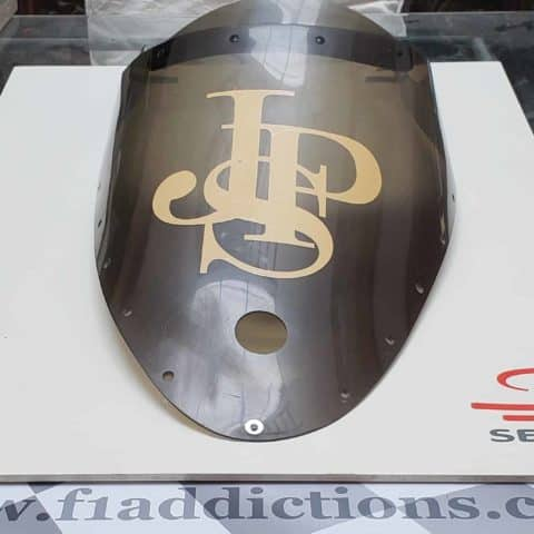 NOW SOLD-JPS Lotus T97 windscreen driven by Ayrton Senna