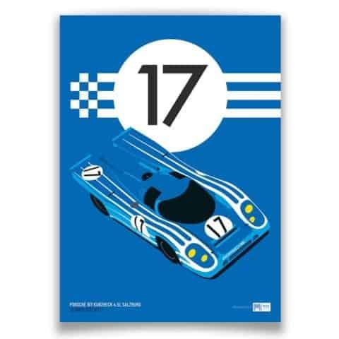 1970 Porsche 917K Salzburg Sebring No.17 - Limited Edition poster print