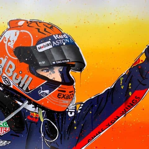 Max Verstappen, Spa 2018 - Graffiti painting