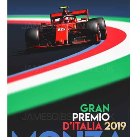 Charles Leclerc - Monza 2019 - A2 Race Poster Print