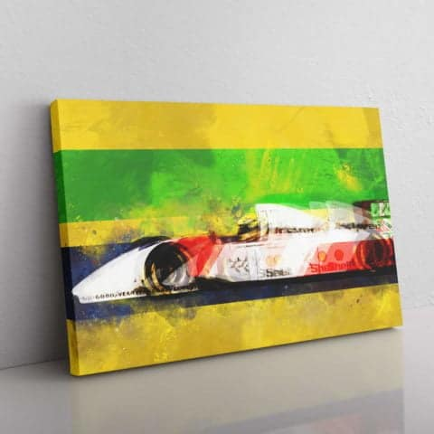 Ayrton Senna F1 Canvas
