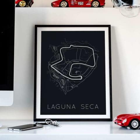 Racing Forever Forward – Laguna Seca Poster