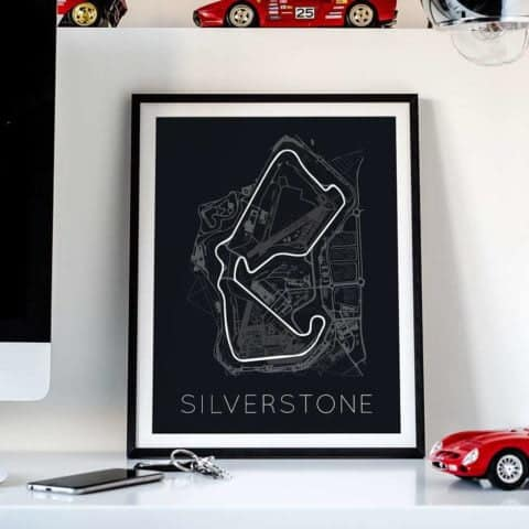 The Blueprint of Velocity – Silverstone Circuit Poster