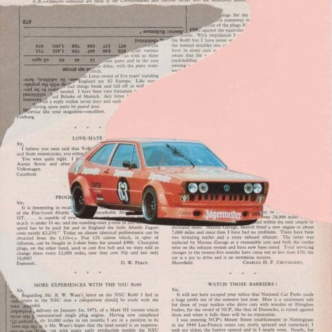 Volkswagen Scirocco 1.6 | Print from an original collage