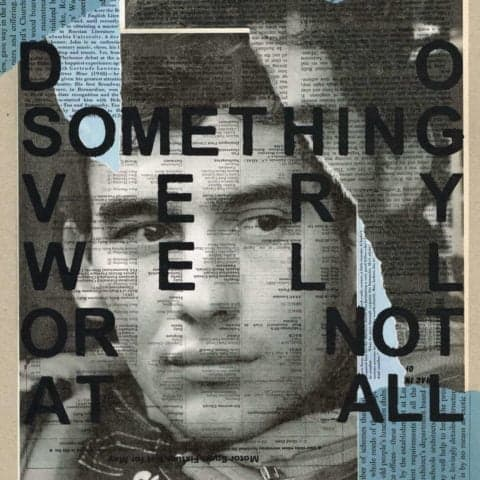 Ayrton Senna: 'Do something very well or not at all' | Print from an original collage