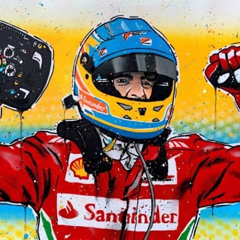 Fernando Alonso, Ferrari - Graffiti Painting