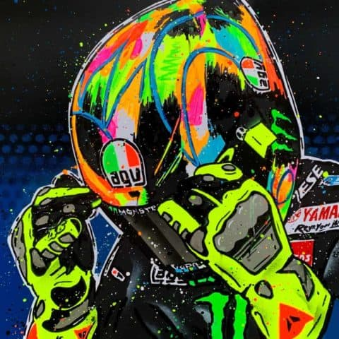 Valentino Rossi - Winter 2019 - Graffiti painting