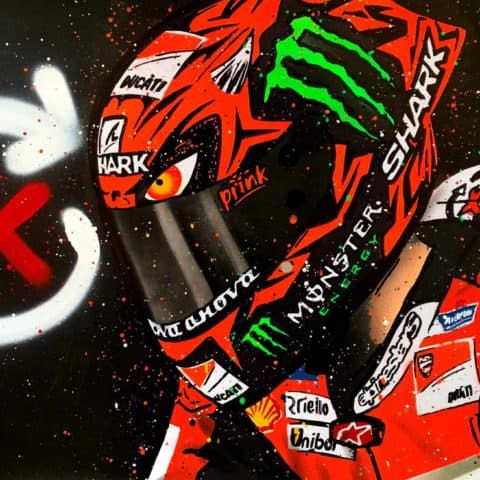 Jorge Lorenzo, Ducati Demon - Graffiti Painting