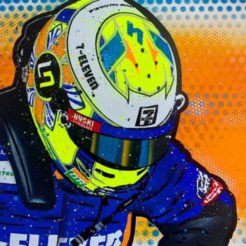 Lando Norris - Graffiti Painting