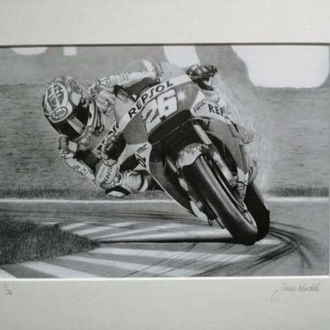 Pedrosa limited edition print