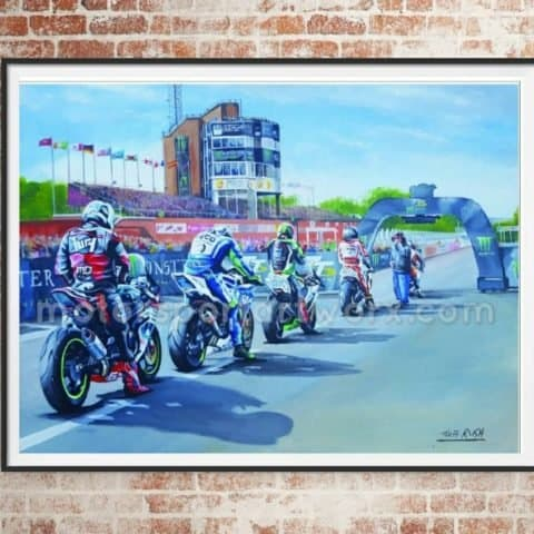 Isle of Man TT limited edition art print by Jeff Rush Motorcycle racing poster road racing poster TT poster gifts for bikers