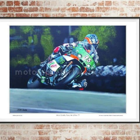 Maria Costello limited edition art print by Jeff Rush Motorcycle racing poster Road racing poster TT poster gifts for bikers
