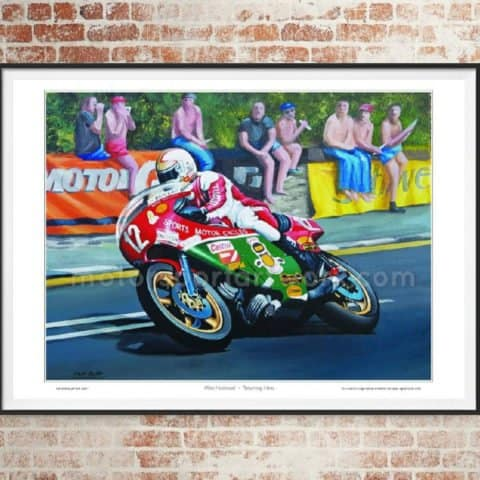 Mike Hailwood limited edition art print by Jeff Rush Motorcycle racing poster road racing poster TT poster isle of man gifts for bikers