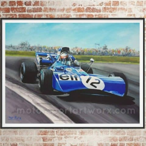 Jackie Stewart limited edition art print by Jeff Rush formula 1 poster formula 1 art f1 poster historic F1 art race car art F1 painting